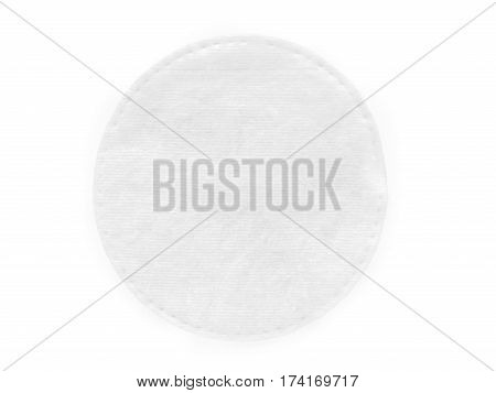 Round cotton cosmetic pad. Isolated on white with clipping path