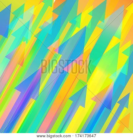 Colourful vector background with many diagonal arrows