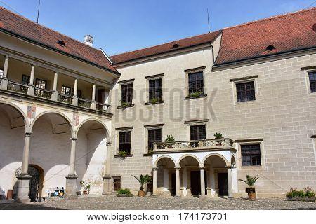 castle Telc, UNESCO world heritage, Czech republic, Europe