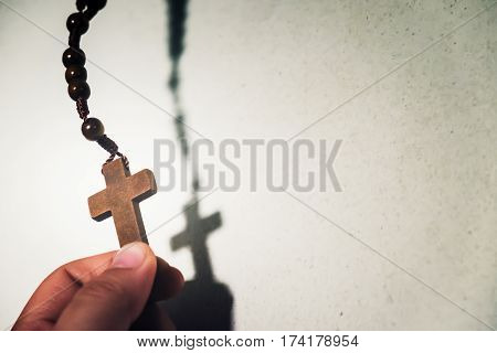 Holy Wooden Christian Cross.