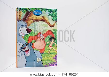 Hai, Ukraine - February 28, 2017: Animated Disney Movies Cartoon Production Book The Jungle Book On