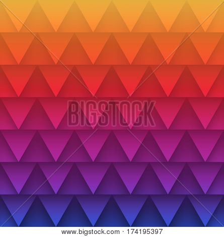 Abstract triangles pattern colorful background. Vector illustration.