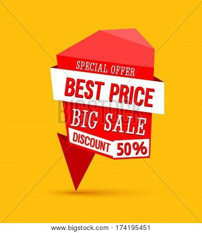 Sale Best Price Creative Banner. Vector illustration.