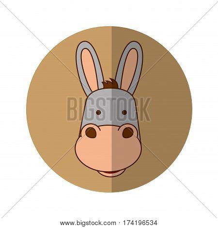 cute mule manger character vector illustration design