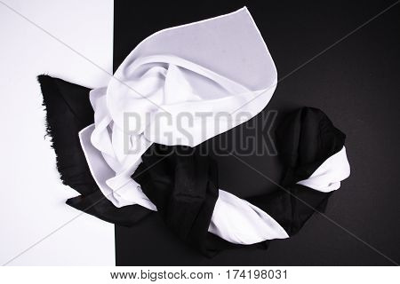 Abstract Image In Black And White