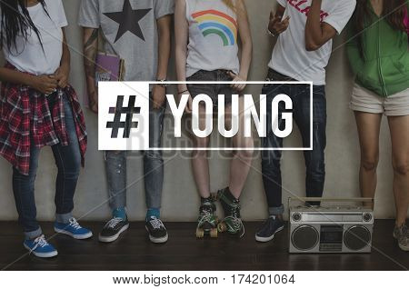 Young Teenagers Attitude Youth Power