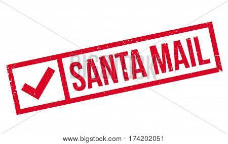 Santa Mail rubber stamp. Grunge design with dust scratches. Effects can be easily removed for a clean, crisp look. Color is easily changed.