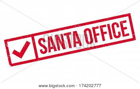 Santa Office rubber stamp. Grunge design with dust scratches. Effects can be easily removed for a clean, crisp look. Color is easily changed.