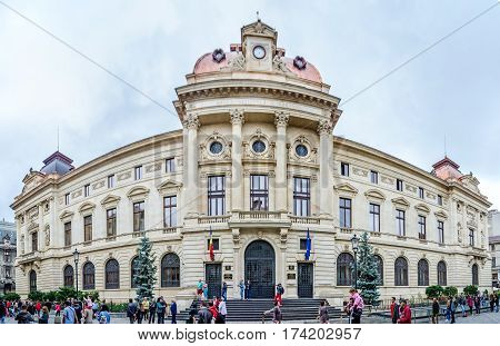 Bucharest, Romania - May 25, 2014: The National Bank Of Romania (bnr) Building, Palace Designed By A