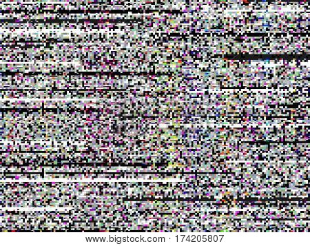Glitch Computer Screen Data Fail Tv Signal Error Bright 3