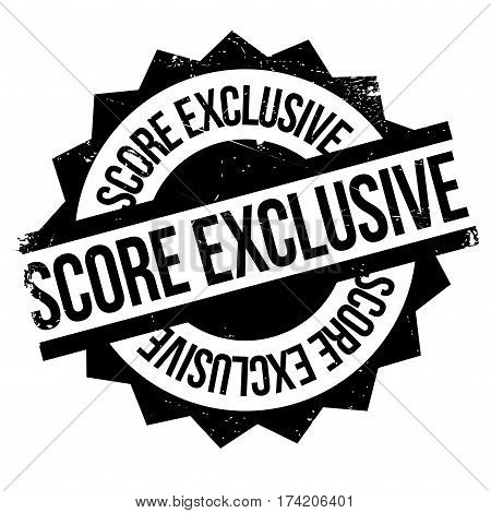 Score Exclusive rubber stamp. Grunge design with dust scratches. Effects can be easily removed for a clean, crisp look. Color is easily changed.