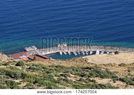 Assos Ancient Harbor in Behram, Ayvacik, Canakkale