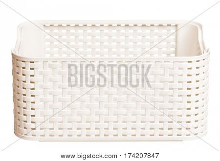 Plastic box for packaging isolated on a white background