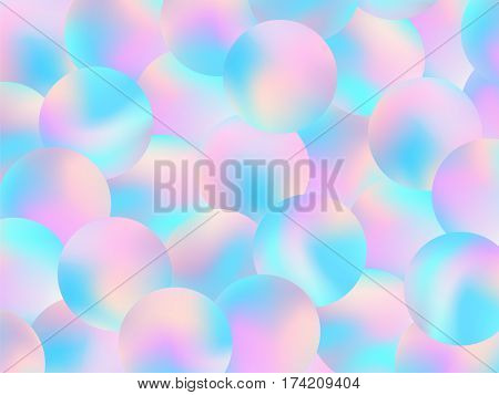 Holographic Bubbles Background Pastel Smooth Wallpaper 2