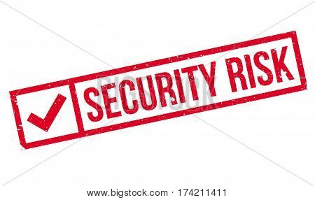 Security Risk rubber stamp. Grunge design with dust scratches. Effects can be easily removed for a clean, crisp look. Color is easily changed.