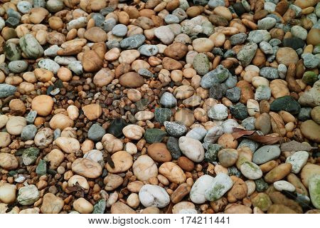 Beautiful Pebble Stone Ground for Background, Texture