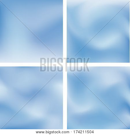 Abstract burred sky background set. Website pattern collection. Fresh air wallaper covers