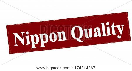 Stamp with text Nippon quality inside vector illustration