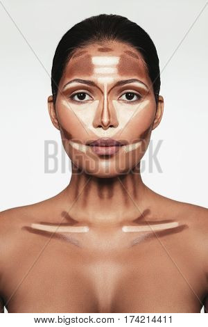 Professional Contouring Face Makeup Technique