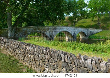 Burnside Bridge And Stone Wall
