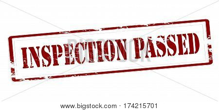 Stamp with text inspection passed inside vector illustration