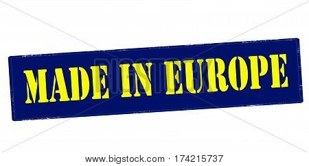 Stamp with text made in Europe inside vector illustration