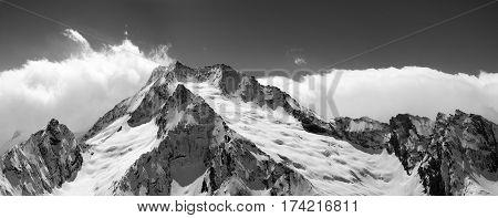 Black And White Mountain Panorama