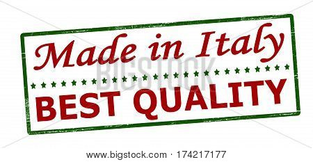 Stamp with text made in Italy best quality inside vector illustration