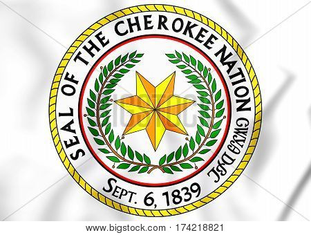 Seal Of The Cherokee Nation. 3D Illustration.