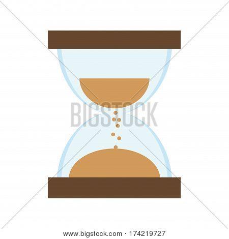 sandclock icon over white background. colorful design. vector illustration