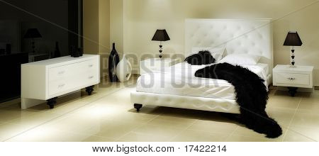 luxury baroque hotel room