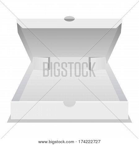 Big pizza box icon. Realistic illustration of big pizza box vector icon for web