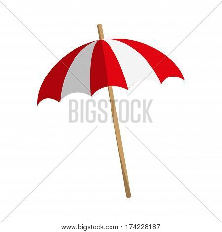 beach parasol icon over white background. colorful design. vector illustration