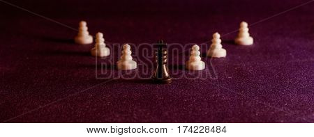 Chess is board game it is very ancient was invented in India this game can be associated with the business the main figure is the king a manager he is the chief and all around to protect him