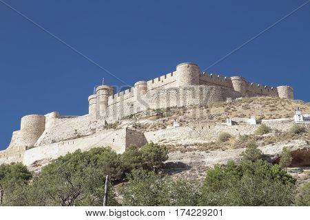 the castle of Chinchila is a fortress of century XV on the province of Albacete spain