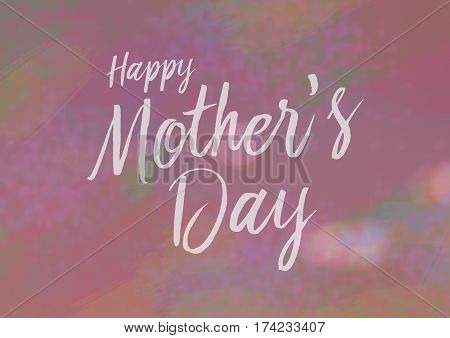 Happy Mothers Day Card with calligraphy type pink background