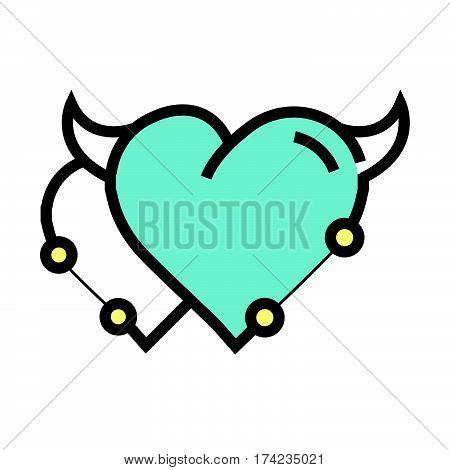 Twins Heart Devil Pen Tool Style Blue