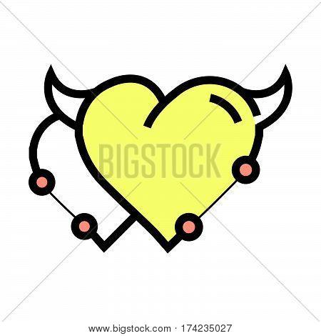 Twins Heart Devil Pen Tool Style Yellow