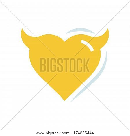 Heart of Devil love flat icon vector design support eps10.