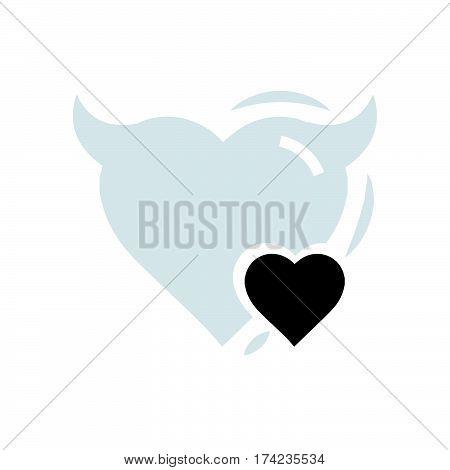 Heart Mini of Devil love vector design support eps10.
