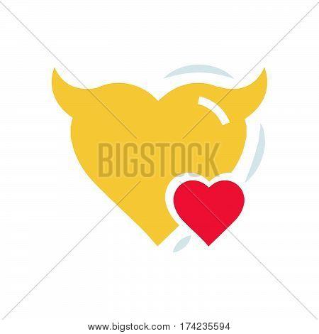 Heart Mini of Devil love flat icon