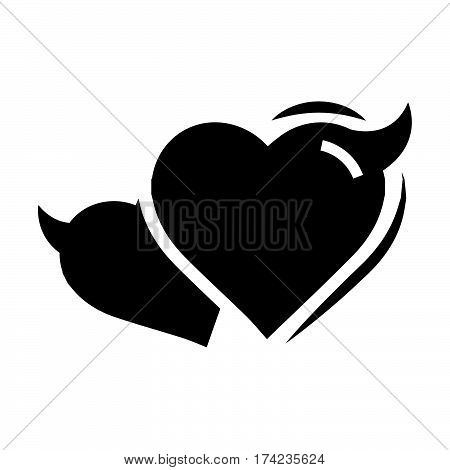 Two Heart of Devil love black color