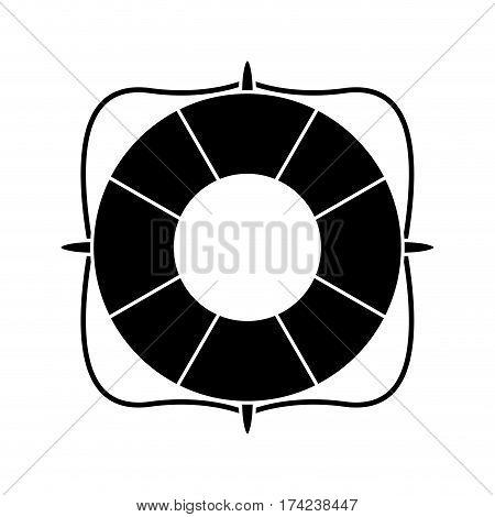 life buoy marine symbol pictogram vector illustration eps 10