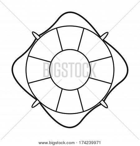life buoy marine symbol thin line vector illustration eps 10