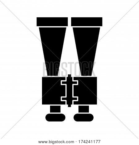 binoculars look observe pictogram vector illustration eps 10 poster