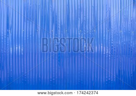 Blue Color Matel Sheet or Blue Color Roof Background.