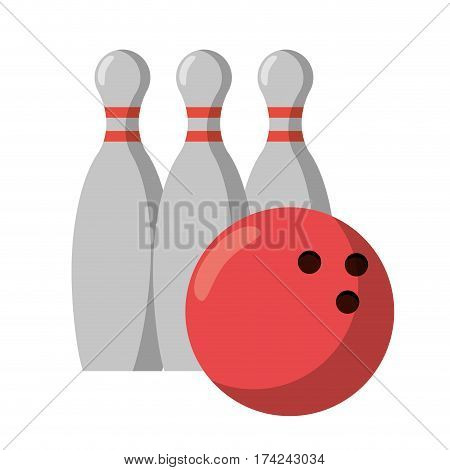 bowling ball pin sport vector illustration eps 10