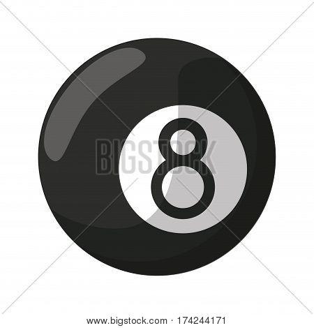 billiard ball  eight vector illustration eps 10