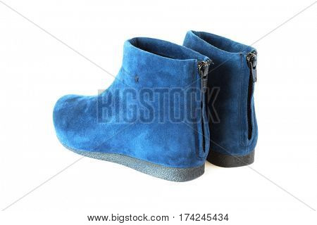 pair women's suede boots