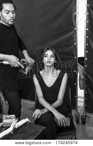 Pamella Roland - Backstage - Fall 2017 Collection